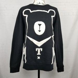 Fun OhBear Womens Sweater Pullover Unisex Black Si